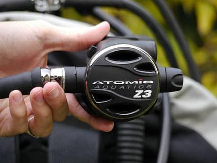 Atomic Aquatic Z3 Second Stage Regulator in Hand