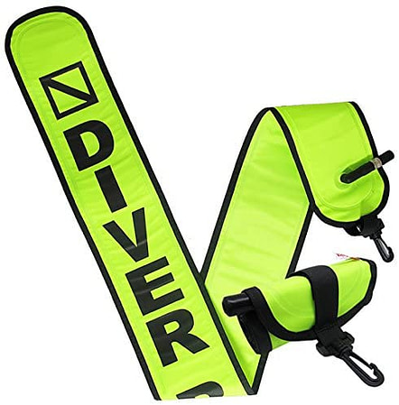 Scuba Choice Scuba Diving 4' Neon Yellow Surface Marker Signal Tube with Plastic Clip